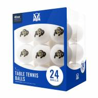 Colorado Buffaloes 24 Count Ping Pong Balls