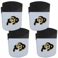 Colorado Buffaloes 4 Pack Chip Clip Magnet with Bottle Opener