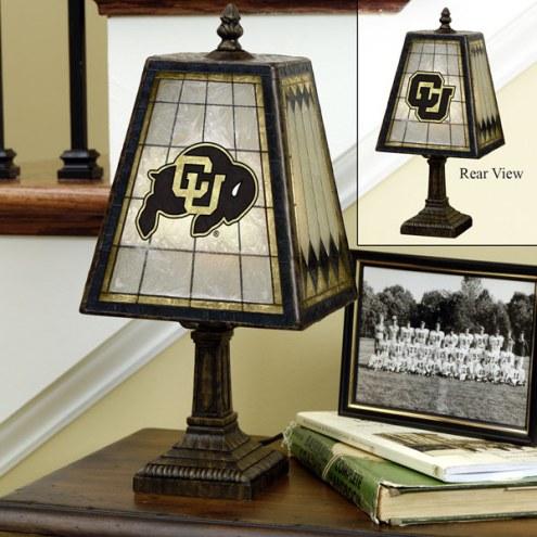 Colorado Buffaloes Art Glass Table Lamp
