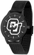 Colorado Buffaloes Black Dial Mesh Statement Watch