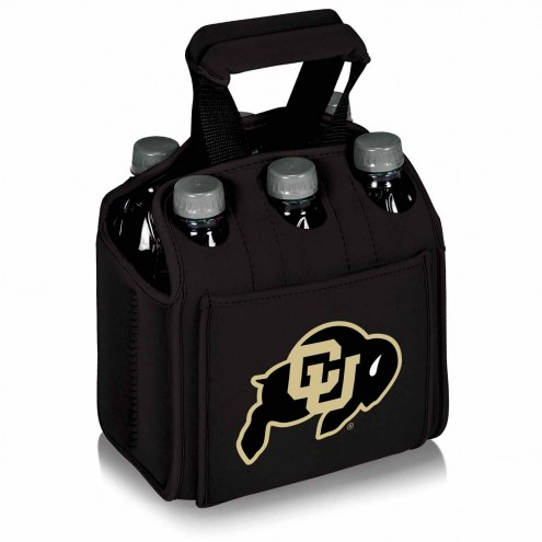 Colorado Buffaloes Black Six Pack Cooler Tote