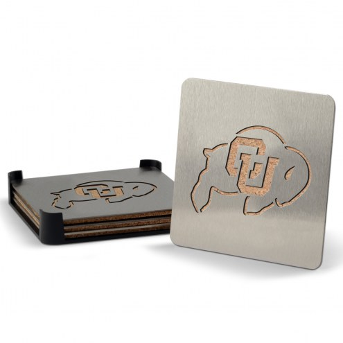 Colorado Buffaloes Boasters Stainless Steel Coasters - Set of 4