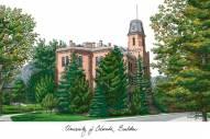 Colorado Buffaloes Campus Images Lithograph