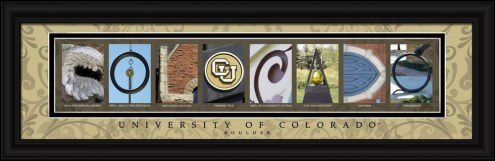 Colorado Buffaloes Campus Letter Art