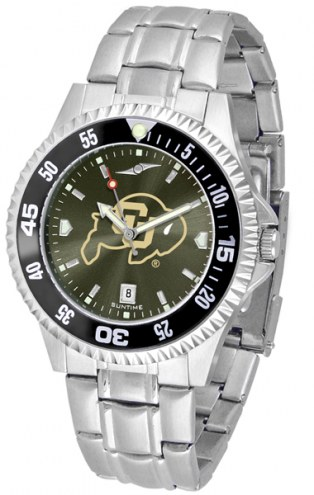 Colorado Buffaloes Competitor Steel AnoChrome Color Bezel Men's Watch