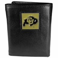 Colorado Buffaloes Deluxe Leather Tri-fold Wallet in Gift Box