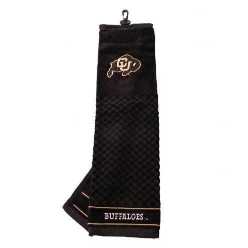 Colorado Buffaloes Embroidered Golf Towel