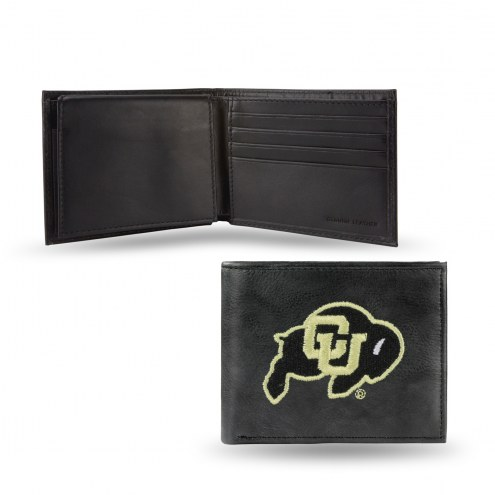 Colorado Buffaloes Embroidered Leather Billfold Wallet