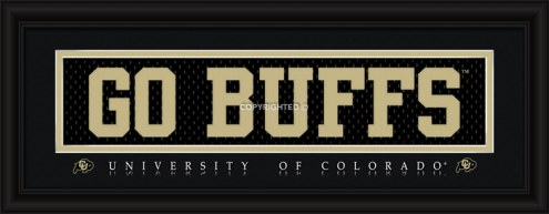 """Colorado Buffaloes """"Go Buffs"""" Stitched Jersey Framed Print"""