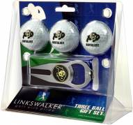 Colorado Buffaloes Golf Ball Gift Pack with Hat Trick Divot Tool