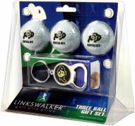 Colorado Buffaloes Golf Ball Gift Pack with Key Chain