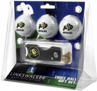 Colorado Buffaloes Golf Ball Gift Pack with Spring Action Divot Tool