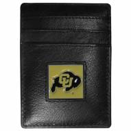 Colorado Buffaloes Leather Money Clip/Cardholder in Gift Box