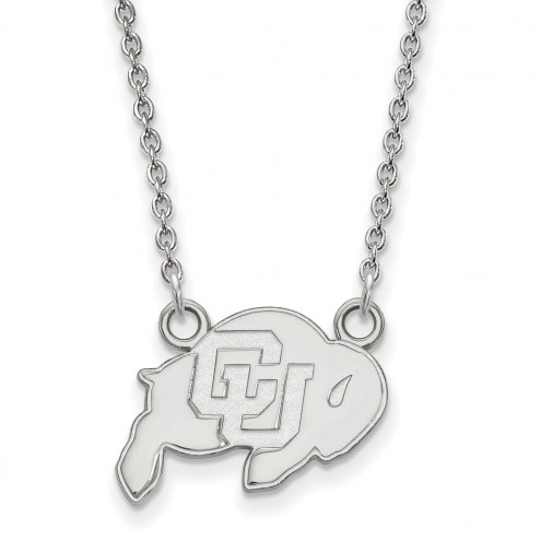 Colorado Buffaloes Sterling Silver Small Pendant Necklace