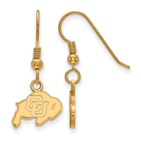 Colorado Buffaloes NCAA Sterling Silver Gold Plated Extra Small Dangle Earrings