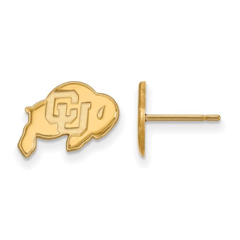 Colorado Buffaloes NCAA Sterling Silver Gold Plated Extra Small Post Earrings
