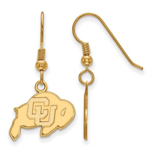 Colorado Buffaloes NCAA Sterling Silver Gold Plated Small Dangle Earrings