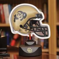 Colorado Buffaloes Neon Helmet Desk Lamp