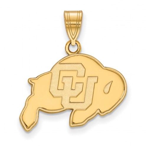 Colorado Buffaloes NCAA Sterling Silver Gold Plated Medium Pendant