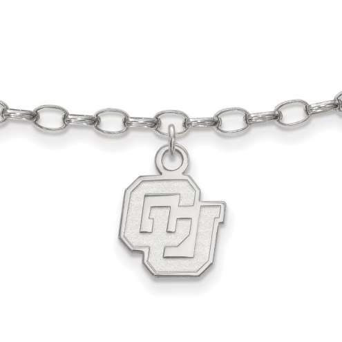 Colorado Buffaloes NCAA Sterling Silver Anklet