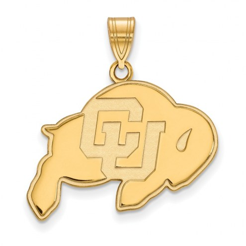 Colorado Buffaloes NCAA Sterling Silver Gold Plated Large Pendant