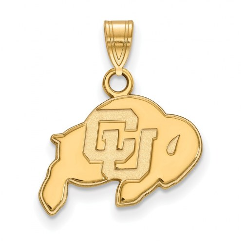 Colorado Buffaloes NCAA Sterling Silver Gold Plated Small Pendant
