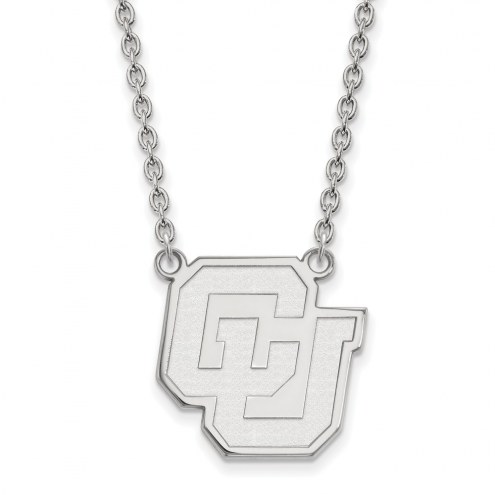 Colorado Buffaloes NCAA Sterling Silver Large Pendant Necklace