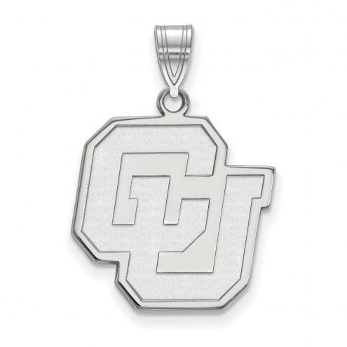 Colorado Buffaloes NCAA Sterling Silver Large Pendant