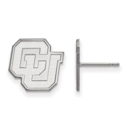 Colorado Buffaloes NCAA Sterling Silver Small Post Earrings