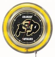 Colorado Buffaloes Neon Clock