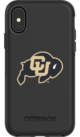 Colorado Buffaloes OtterBox iPhone X Symmetry Black Case