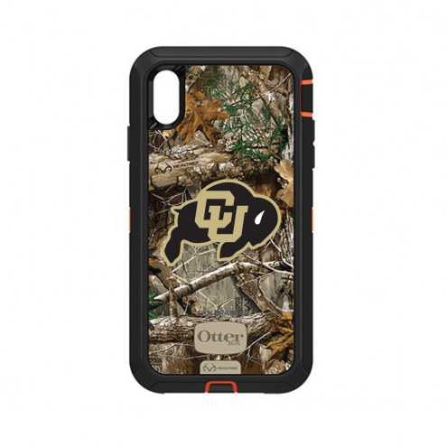 Colorado Buffaloes OtterBox iPhone XS Max Defender Realtree Camo Case