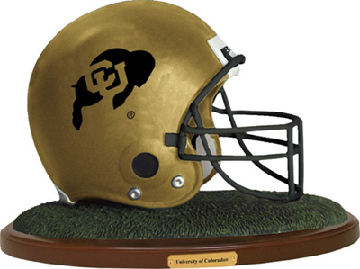 Colorado Buffaloes Collectible Football Helmet Figurine