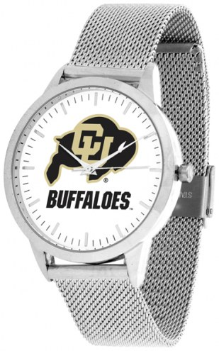 Colorado Buffaloes Silver Mesh Statement Watch
