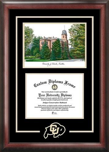 Colorado Buffaloes Spirit Diploma Frame with Campus Image