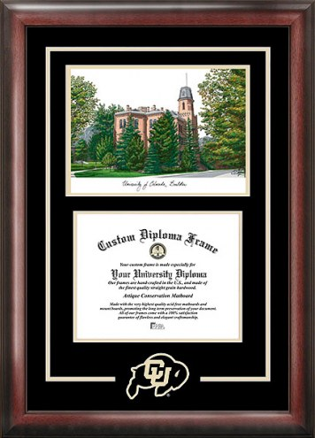 Colorado Buffaloes Spirit Diploma Frame with Campus Image