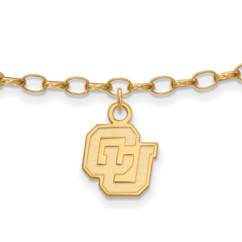 Colorado Buffaloes Sterling Silver Anklet