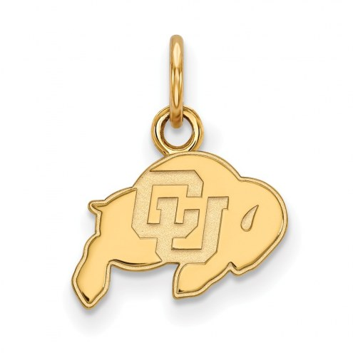 Colorado Buffaloes Sterling Silver Gold Plated Extra Small Pendant