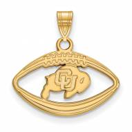 Colorado Buffaloes Sterling Silver Gold Plated Football Pendant