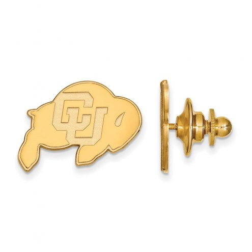 Colorado Buffaloes Sterling Silver Gold Plated Lapel Pin