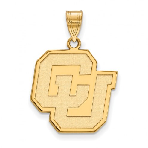 Colorado Buffaloes Sterling Silver Gold Plated Large Pendant