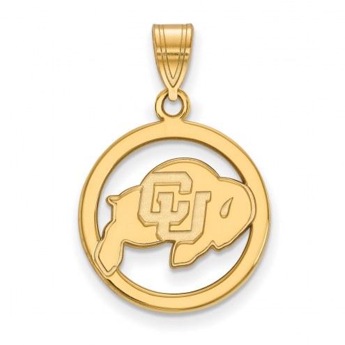 Colorado Buffaloes Sterling Silver Gold Plated Medium Pendant