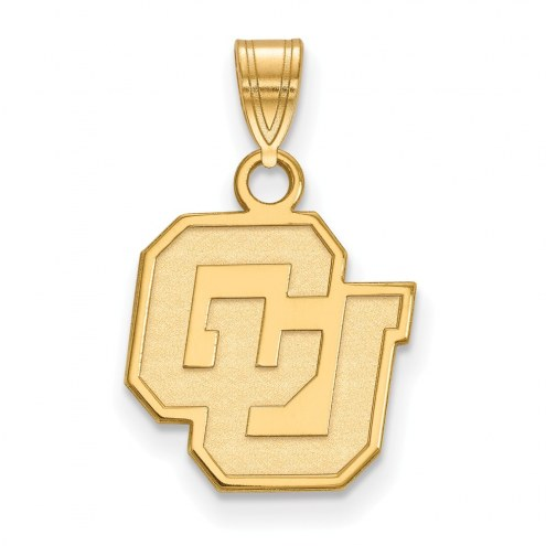 Colorado Buffaloes Sterling Silver Gold Plated Small Pendant