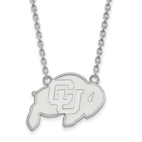 Colorado Buffaloes Sterling Silver Large Pendant Necklace