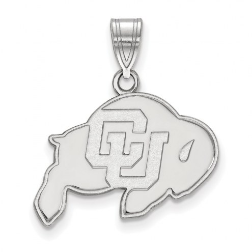 Colorado Buffaloes Sterling Silver Medium Pendant