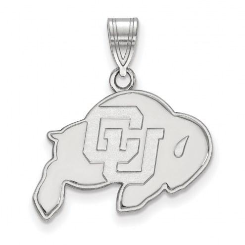 Colorado Buffaloes Sterling Silver Medium Pendant