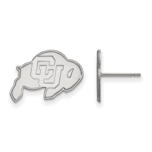 Colorado Buffaloes Sterling Silver Small Post Earrings