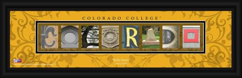 Colorado College Tigers Personalized Campus Letter Art