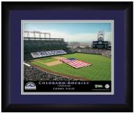 Colorado Rockies 13 x 16 Personalized Framed Stadium Print