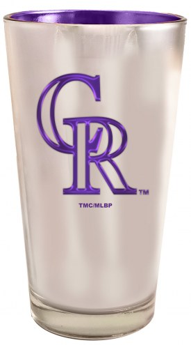 Colorado Rockies 16 oz. Electroplated Pint Glass